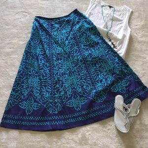 🆕⬇️ $ Soft Surroundings Embroidered Skirt